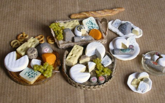 fromages en Fimo