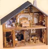 miniatures et maisons de poupees maisons en fascicules. Black Bedroom Furniture Sets. Home Design Ideas