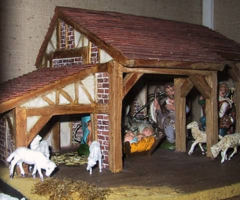 Miniatures And Dollshouses Christmas Crib